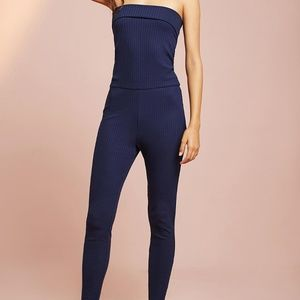 anthropologie Fold-Over Convertible Jumpsuit